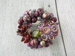 Brooch  チェコガラスボタン お花(K0920)の画像
