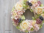Wreath~PASTEL~ 26cm (造花)の画像