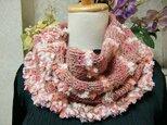 ♪花hana花♪メビウス編みストール♪ピンクの画像