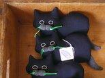 """ Stickitten"" kitten loaf ダークネイビー(ヘリンボーン)の画像"