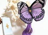 蝶のかんざし(大)モルフォ系の画像