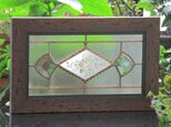 ステンドグラス 昭和初期ガラス 希少 薔薇の葉ガラス【受注作品】の画像