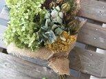 半額セール ハーブの花束(アナベル)の画像