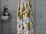 着物リメイク 浴衣のロングワンピース/ゆとりのL/Aライン/藤の花の画像
