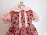 ジャンパースカート&ブラウスのセット Aタイプ ~~*小さな着せ替え人形用*~~の画像