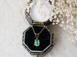 【K10】ロシア産宝石質エメラルドの一粒ネックレス*5月誕生石の画像