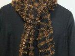手織りマフラー ループ糸 の画像