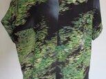 5104 縮緬の着物で作ったTシャツ #送料無料の画像