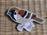 日本のスズメ*ブローチの画像