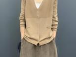 秋 無地長袖ニットカーディガン薄手セーターコート コットン  レディース シャツ  ゆるいの画像