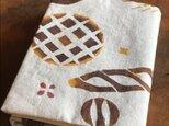 ベンガラ泥染めブックカバー  パンモチーフbの画像