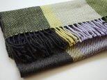 手織りカシミアストール・・ピクニックの画像