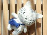 あみぐるみ ねこちゃん 編みぐるみ プレゼント ハンドメイド 男の子 出産祝い 女の子 お部屋飾り 手編みの画像
