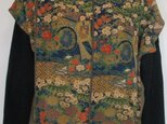 5193 花柄の着物で作ったベスト #送料無料の画像