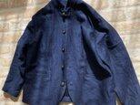 インディゴリネンデニムのジャケットの画像
