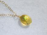 (1点もの)14kgf・プレシャスオパールオパールの1粒ネックレスの画像