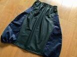 濃紺迷彩柄のコーデュロイの大人バルーンスカートの画像