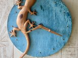 gecko wall clock Yoshino-sugiの画像