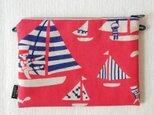 型染め サコッシュポーチM「ヨットの旅」の画像
