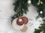 ブローチにもなる2wayクリスマス刺繍オーナメント【受注制作】の画像