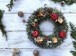 【2020煌めく冬!】赤いリンゴのクリスマスリース☆ ♯クリスマス ♯クリスマスリース ♯赤いリンゴの画像