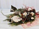 フレッシュヒムロスギのクリスマススワッグ・(スノーマンのオーナメント)の画像