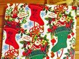 U.S.A. ヴィンテージ包装紙【靴下と贈り物】DA-WP038の画像