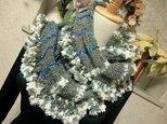 ♪花hana花♪ラブリーメビウス編みストール♪グレーの画像