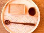 【☆人気です】ラウンド トレイ - 青海波 -  seigaiha round tray 0014 楓の木の画像