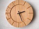 木の時計01(Φ240) No6  タモの画像