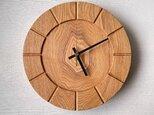 木の時計01(Φ240) No9  タモの画像