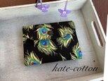 ■ミニ財布⭐︎ロラライ・ハリス⭐︎孔雀の羽根・ブラックの画像