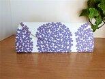 【受注制作】メガネケース(270)北欧フラワー・白×紫の画像