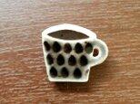 コーヒーカップブローチ(雫)の画像