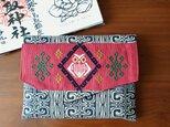 コタンコロカムイ御朱印帳袋(ベージュ系×赤)の画像