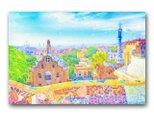 「春の光が響く」ヨーロッパ 春 ほっこり癒しのイラストポストカード2枚組 No.1276の画像