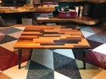 〓栄町工房〓 ミックス集成材ローテーブル 折り畳み脚 50×70×30 / 送料込みの画像