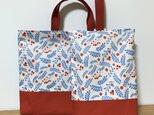 【入園入学】2点セット♪まん丸赤い実のレッスンバッグとシューズ入れの画像