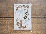 shimontowasamo/Botanical & Birds 刺繍ブックカバー【受注制作】の画像