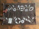 柿渋染めランチョンマット パンと小麦の画像