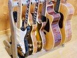 【24時間以内に発送】手作り木工 ギタースタンド (ダークオーク) 6本掛けの画像