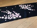 ヴィンテージ着物からタペストリー いつもの様に桜がの画像
