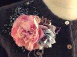 芍薬と紫陽花の染花コサージュ(2WAY)の画像