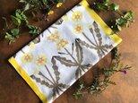 柿渋・草木染め手ぬぐい たんぽぽと菜の花の画像