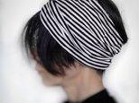 ターバンなヘアバンド ストライプワイド 送料無料の画像