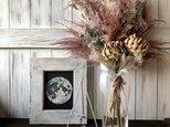 星月猫★「アーティチョークとパンパスグラスの大きなスワッグ」ドライフラワー ブーケ 花束 の画像