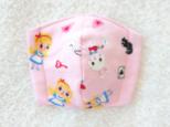 Wガーゼのキッズ立体マスク  アリス  ピンクの画像