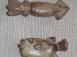 魚の箸置き イカ・フグの画像