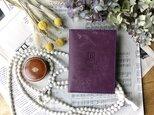 イタリア革のフォトフレーム/Lサイズ/紫の画像