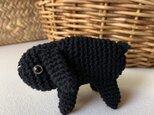 黒いうさぎのあみぐるみ 編みぐるみ たれ耳うさぎ ロップイヤー 黒の画像